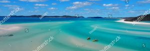 stock photo beautiful beach whitsunday islands whitehaven bay beach and blue water bright sunny summer day